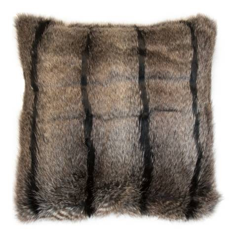 Malini Nocturne Faux Fur Cushion 50x50cm