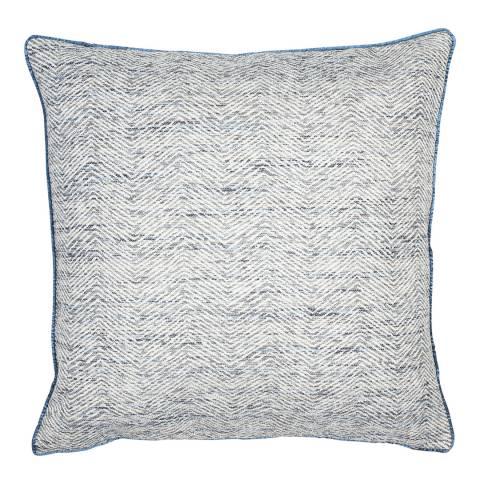 Malini Navy Woven Slub Cushion 50x50cm