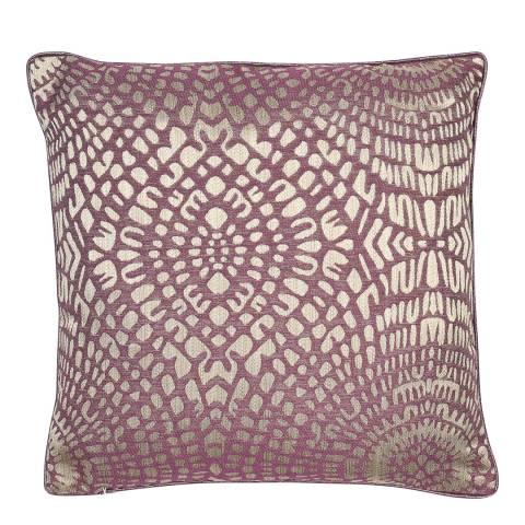 Malini Aubergine Circular Jacquard Cushion 50x50cm