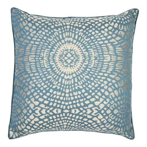 Malini Teal Circular Jacquard Cushion 50x50cm