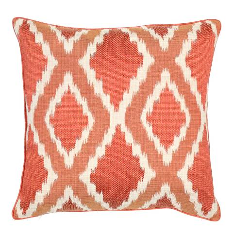 Malini Rust Woven Ikat Cushion 43x43cm