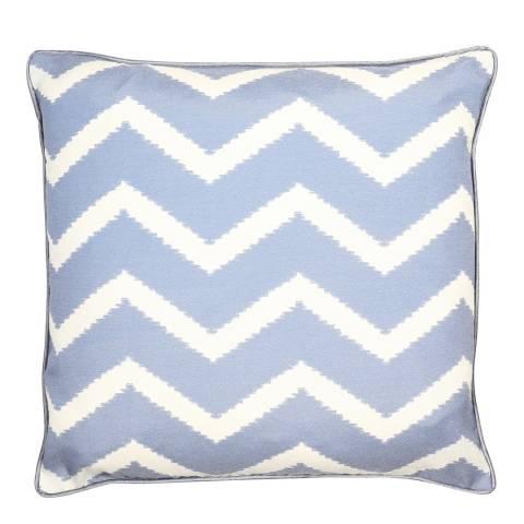 Malini Blue Zig Zag Print Cushion 45x45cm