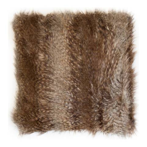 Malini Rust Faux Fur Cushion 50x50cm