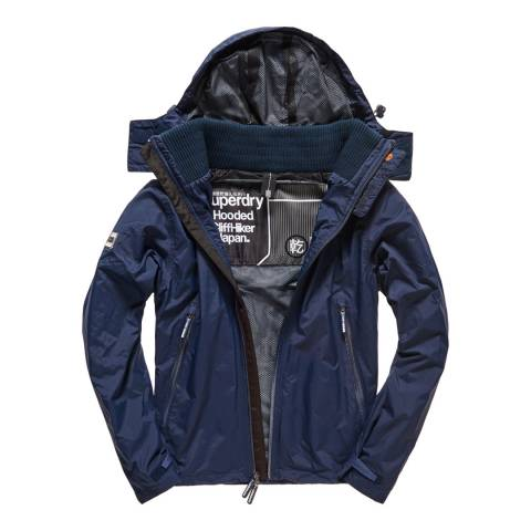 Superdry Navy New Hooded Cliff Hiker Jacket