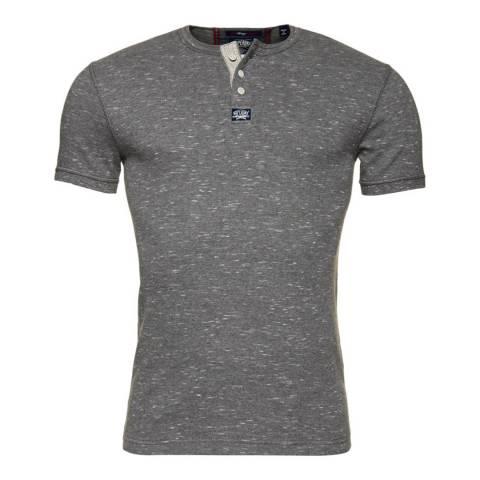 Superdry Grey Heritage Short Sleeve Grandad Top
