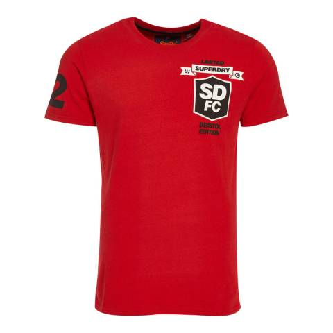 Superdry Red Modern Limited Edition Football Tee