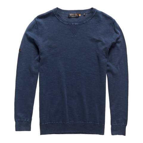 Superdry Navy Garment Dyed LA Crew Sweatshirt