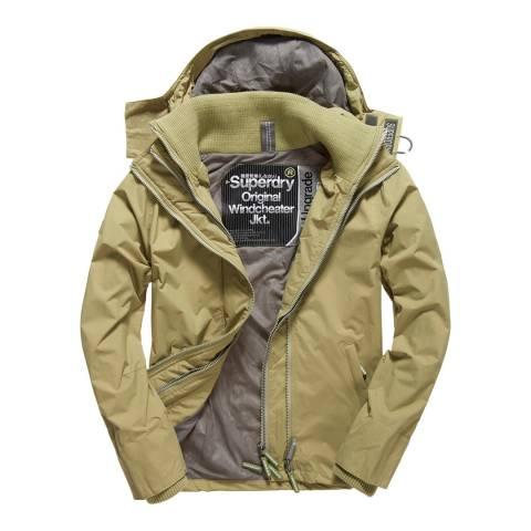 Superdry Green/Grey Tech Hood Pop Zip Windcheater Jacket