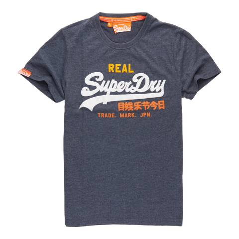 Superdry Navy Vintage Logo Tri Entry Tee