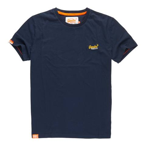 Superdry Navy Orange Label Vintage Tee
