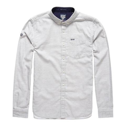 Superdry Grey Shoreditch Button Down Shirt