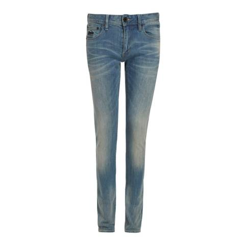 Superdry Blue Skinny Stretch Jeans
