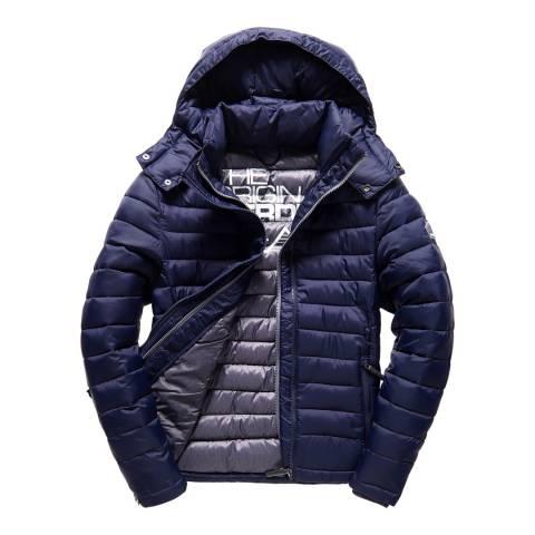 Superdry Navy Fuji Double Zip Hooded Jacket