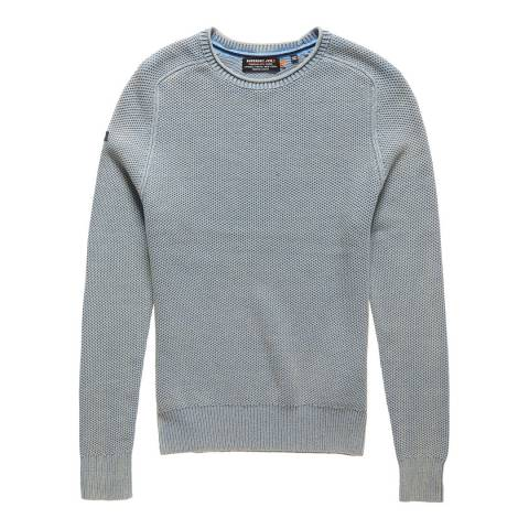 Superdry GARMENT DYED L.A. TEXTURED CREW