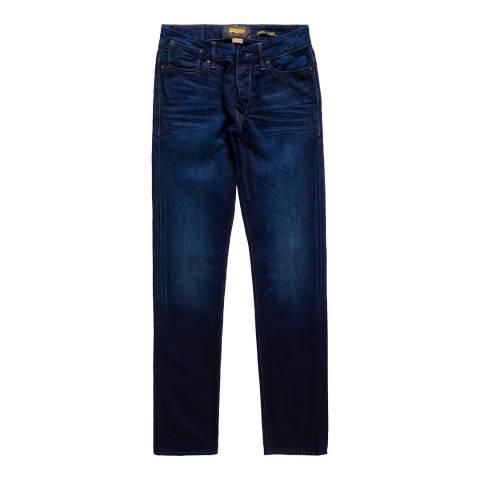 Superdry Blue Biker Tapered Jeans