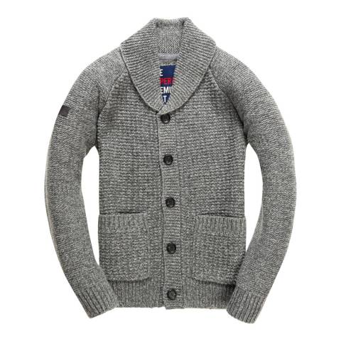 Superdry Grey Nordic Textured Cardigan