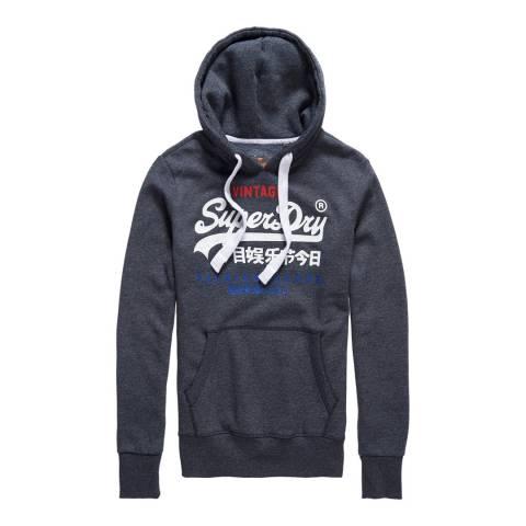 Superdry Navy Premium Goods Tri Hoodie