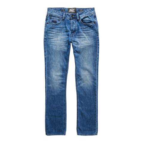 Superdry Blue Office Straight Jeans