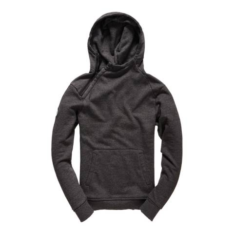 Superdry Charcoal Master Brand Side Wind Hoodie