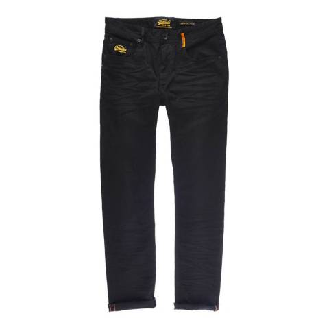 Superdry Black Corporal Slim Stretch Jeans
