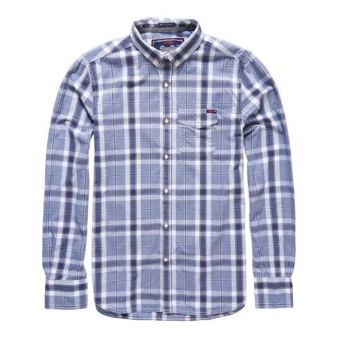 Superdry Purple Check Washbasket Button Down Shirt