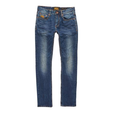 Superdry Blue Corporal Slim Stretch Jeans