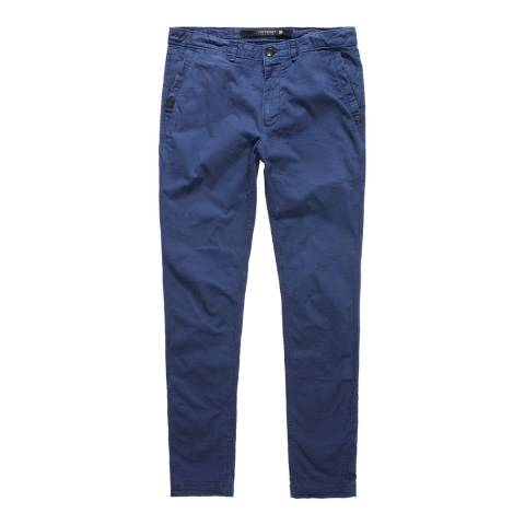 Superdry Blue Surplus Goods Low Rider Chino Trousers