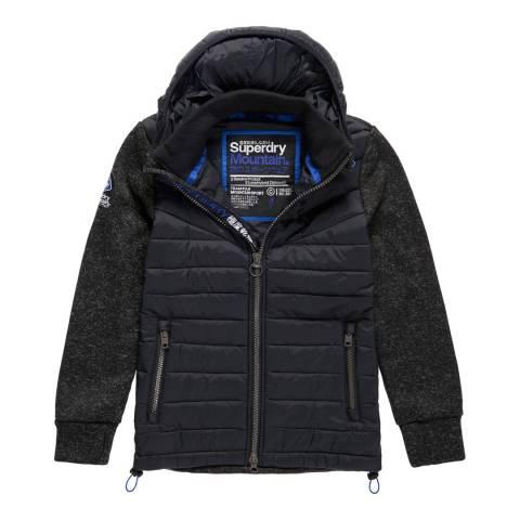 Superdry Black Storm Hybrid Zip Hood Jacket