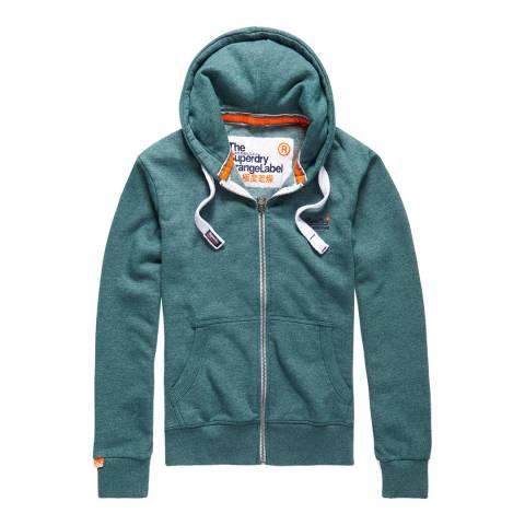 Superdry Green Orange Label Zipped Hoodie