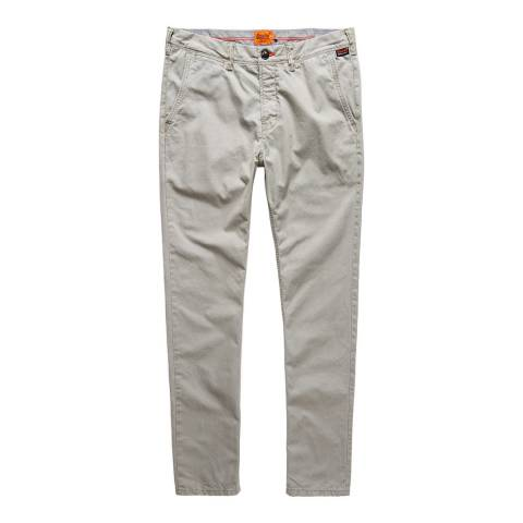 Superdry Grey Rookie Cotton Chinos