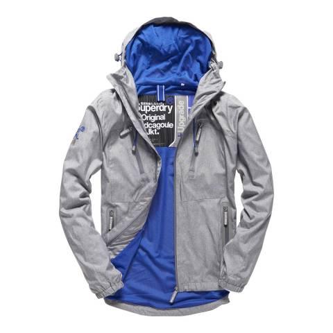Superdry Light Grey New Dual Zip Cagoule Jacket