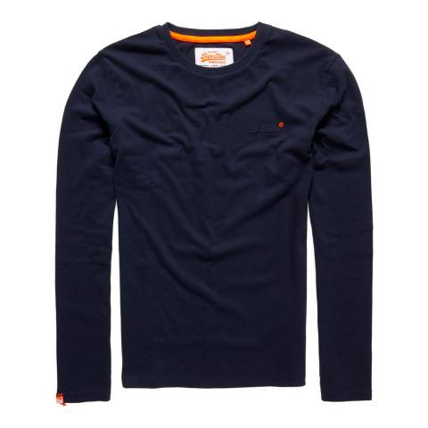 Superdry Navy Vintage Logo Long Sleeve Tee