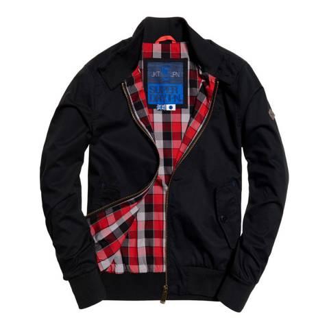 Superdry Black Longhorn Harrington Jacket