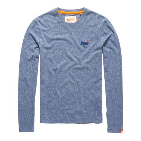 Superdry Blue Vintage Logo Long Sleeve Tee