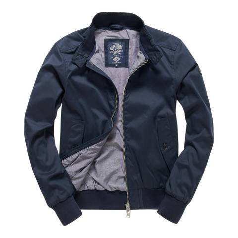 Superdry Navy Nordic Harrington Jacket