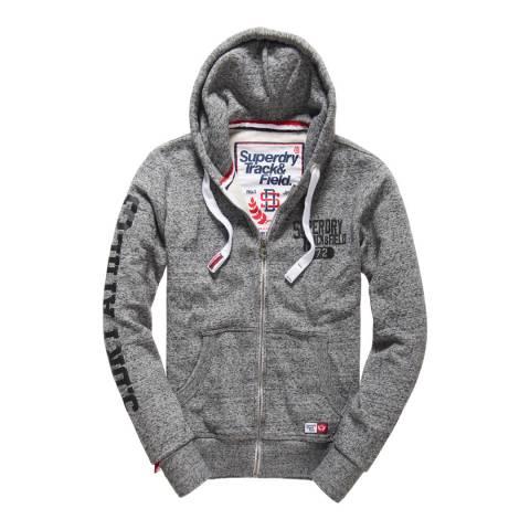 Superdry Grey Trackster Zipped Hoodie