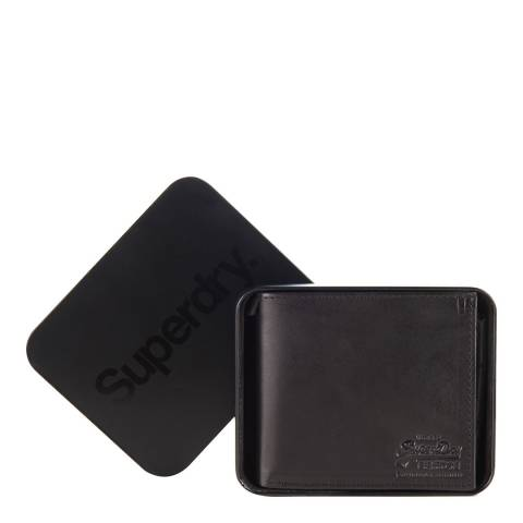 Superdry Black Wallet in a Tin