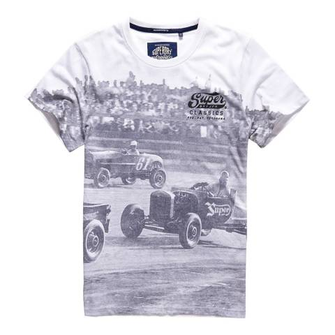 Superdry White/Grey Classics Photographic Tee