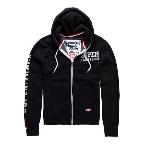 Superdry Black Trackster Zipped Hoodie