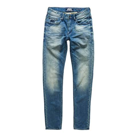 Superdry Blue Wilson Jogger Stretch Jeans
