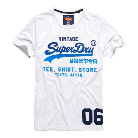 Superdry White Shirt Shop Fade Tee