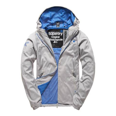Superdry Grey/Blue Dual Zip Through Cagoule Jacket