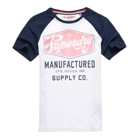 Superdry White Manufactured New Industry Tee