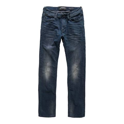 Superdry Dark Blue Denim Slim Fit Corporal Jeans