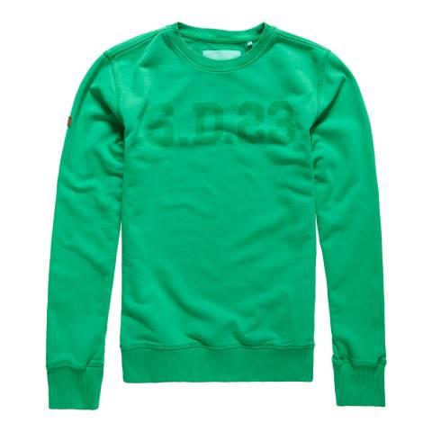 Superdry Green Solo Sport Crew Sweatshirt