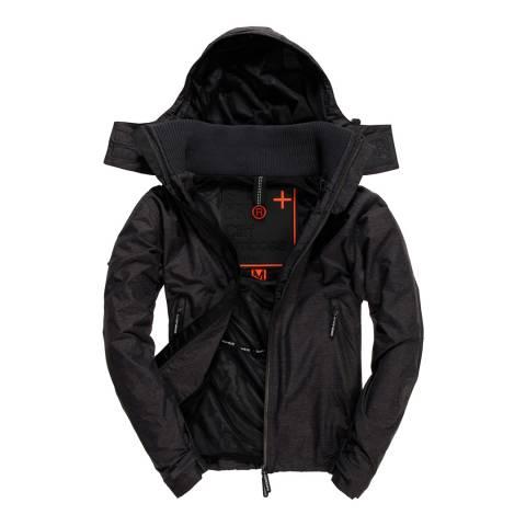 Superdry Black Cliff Emboss Hiker Jacket