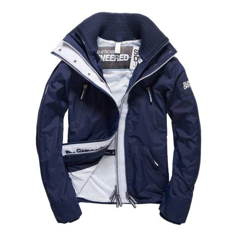 Superdry Navy Cream Wind Attacker Jacket