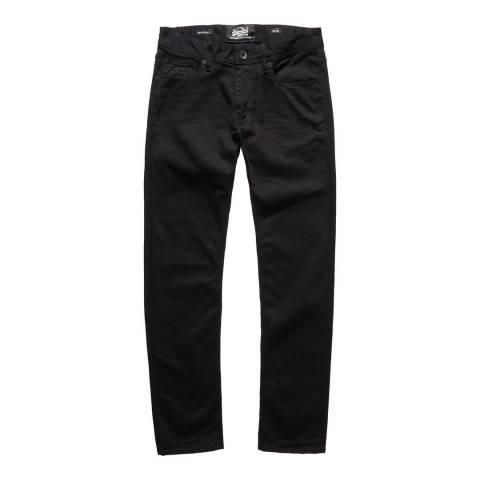 Superdry Black Corporat Stretch Slim Jeans