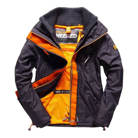 Superdry Dark Grey/Orange Wind Attacker Jacket