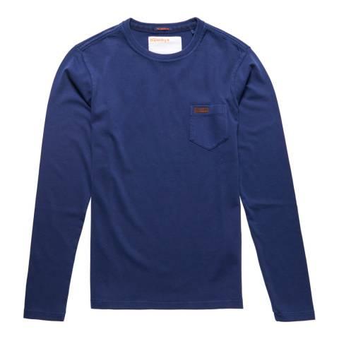 Superdry Blue Superdry LA Long Sleeve Tee